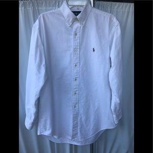 Ralph Lauren White Yarmouth Cotton Button Up shirt